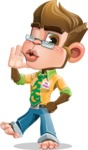 Business Monkey Cartoon Vector Character AKA Mr. Monkey Bananas - Duckface