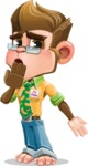 Business Monkey Cartoon Vector Character AKA Mr. Monkey Bananas - Oops