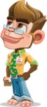 Business Monkey Cartoon Vector Character AKA Mr. Monkey Bananas - Patient