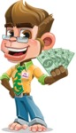 Business Monkey Cartoon Vector Character AKA Mr. Monkey Bananas - Show me  the Money