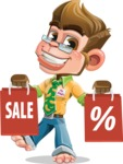 Business Monkey Cartoon Vector Character AKA Mr. Monkey Bananas - Sale 2