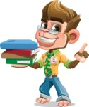 Business Monkey Cartoon Vector Character AKA Mr. Monkey Bananas - Book 2
