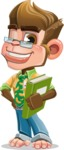 Business Monkey Cartoon Vector Character AKA Mr. Monkey Bananas - Book 3