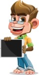Business Monkey Cartoon Vector Character AKA Mr. Monkey Bananas - iPad 2