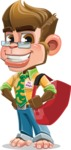 Business Monkey Cartoon Vector Character AKA Mr. Monkey Bananas - Travel 2