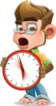 Business Monkey Cartoon Vector Character AKA Mr. Monkey Bananas - Time is Yours