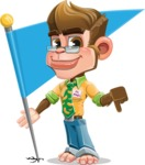 Business Monkey Cartoon Vector Character AKA Mr. Monkey Bananas - Checkpoint