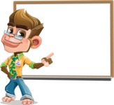 Business Monkey Cartoon Vector Character AKA Mr. Monkey Bananas - Presentation 3