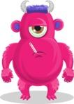 Cute Monster Cartoon Character - Feeling Sick