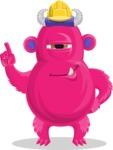 Cute Monster Cartoon Character - Working