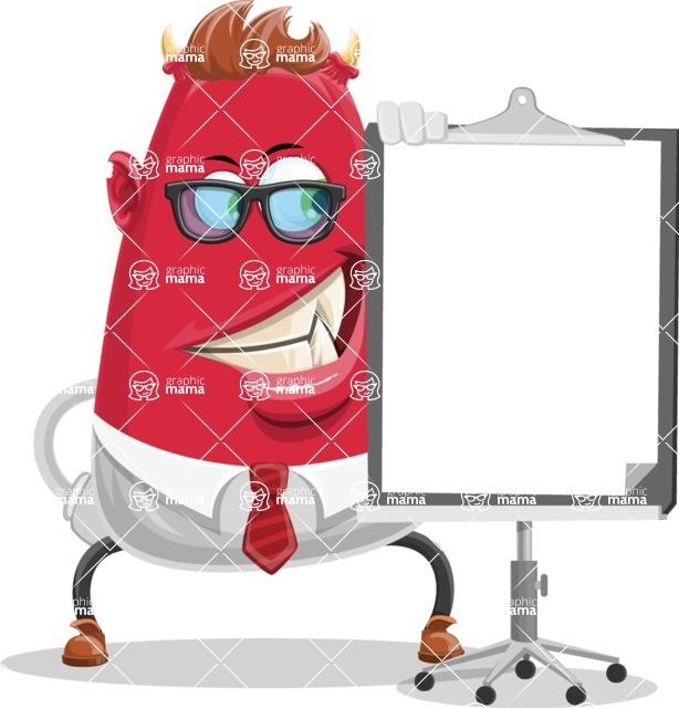Business Monster Cartoon Character - Presentation 1
