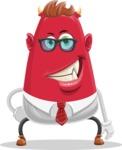 Business Monster Cartoon Character - Normal