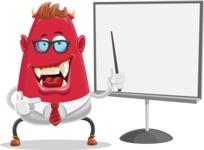 Business Monster Cartoon Character - Presentation 2