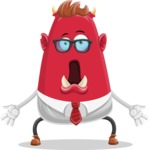 Business Monster Cartoon Character - Shocked