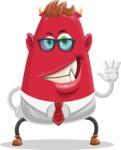 Business Monster Cartoon Character - Hello