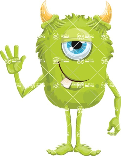 Monster Vector Cartoon Graphic Maker - Dorky friendly monster