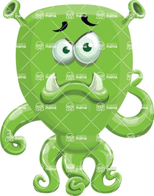 Monster Vector Cartoon Graphic Maker - Gloomy monster