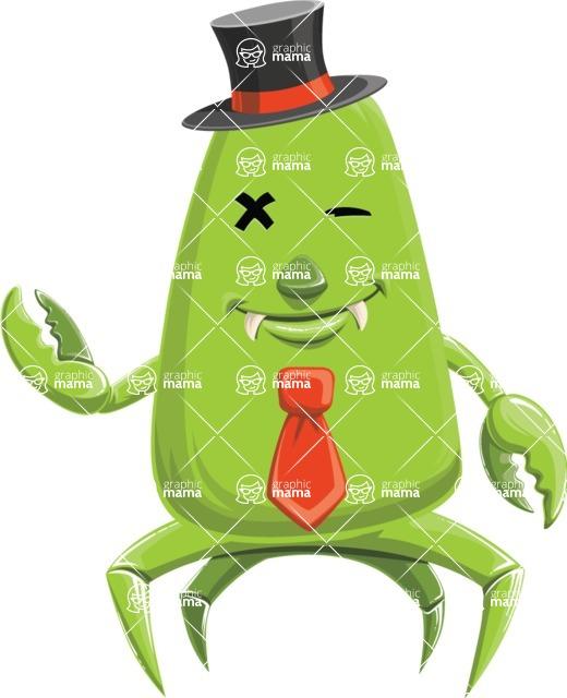 Monster Vector Cartoon Graphic Maker - Monster gentleman