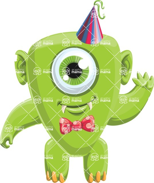 Monster Vector Cartoon Graphic Maker - Birthday baby monster