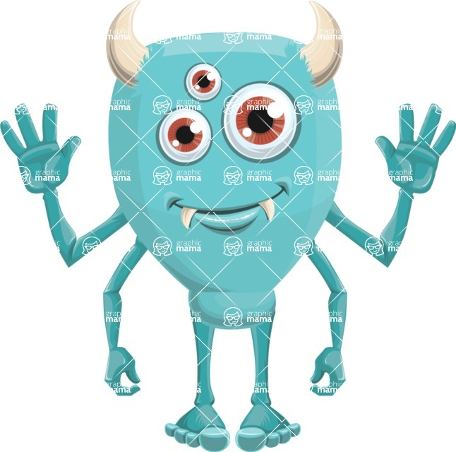 Monster Vector Cartoon Graphic Maker - Sincere monster