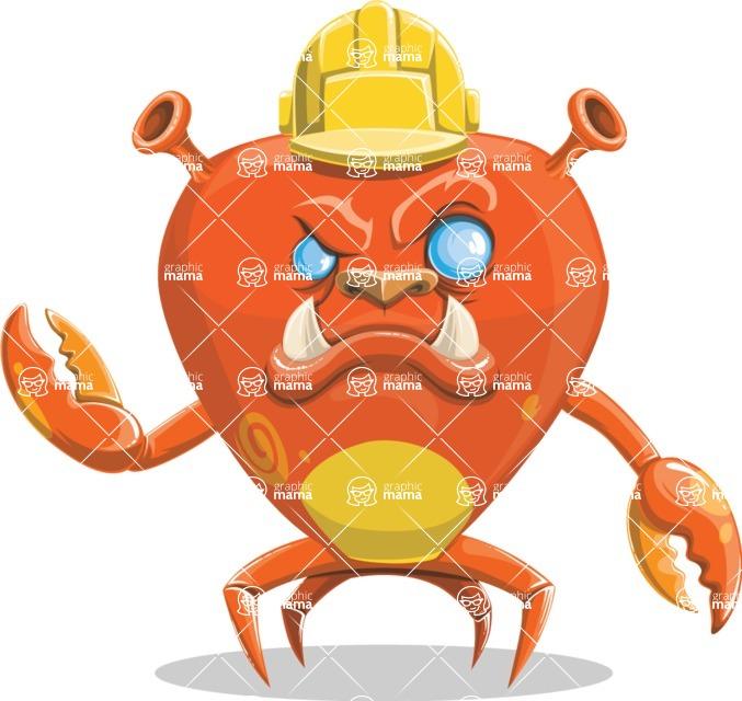 Monster Vector Cartoon Graphic Maker - Builder crab monster