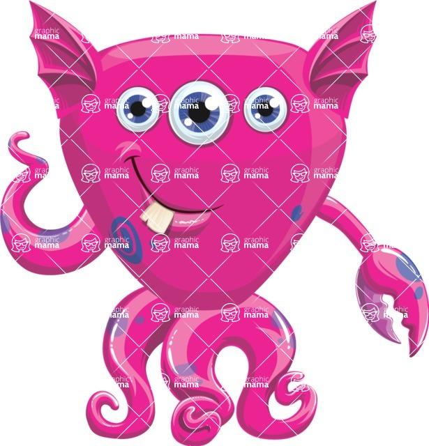 Monster Vector Cartoon Graphic Maker - Friendly sea monster