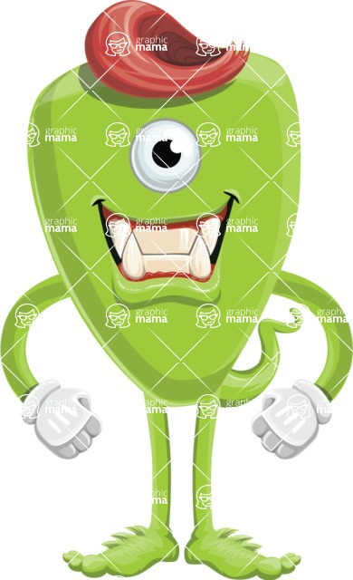 Monster Vector Cartoon Graphic Maker - Committed monster