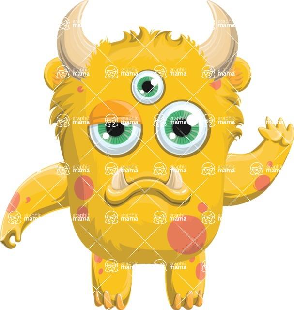 Monster Vector Cartoon Graphic Maker - Cute sad monster