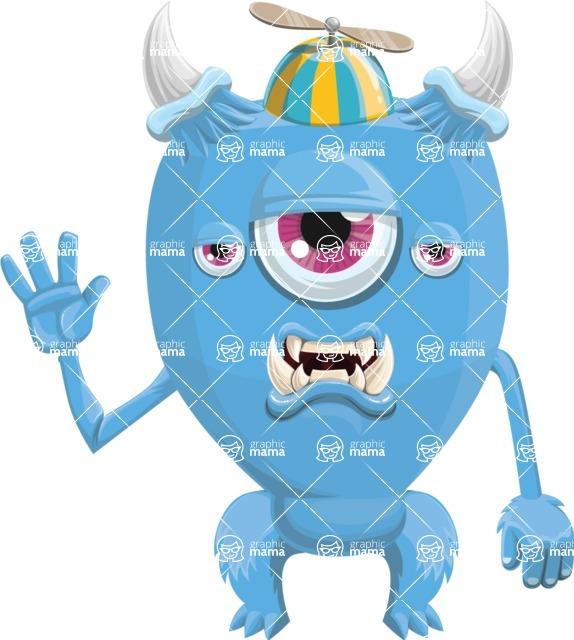 Monster Vector Cartoon Graphic Maker - Bored monster kid