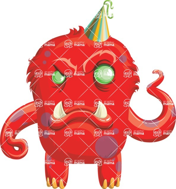 Monster Vector Cartoon Graphic Maker - Angry birthday monster