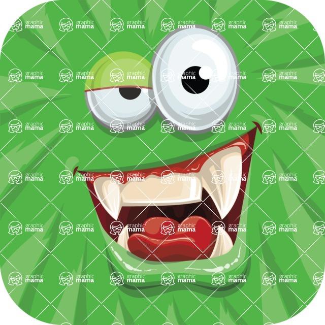 Monster Vector Cartoon Graphic Maker - Green monster avatar