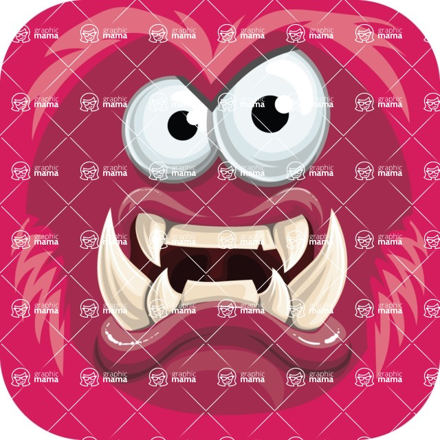Vector Monster Mania - Angry monster avatar