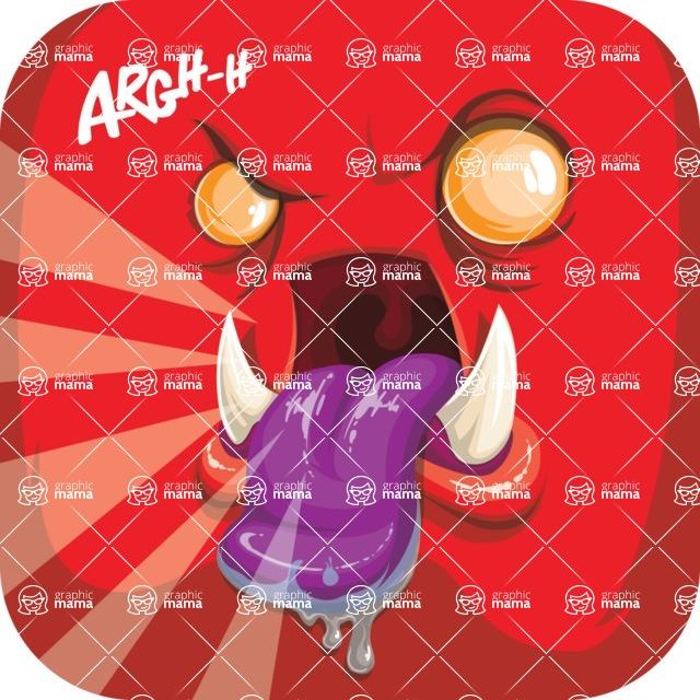 Vector Monster Mania - Crazy monster avatar