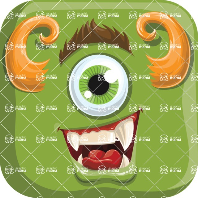 Monster Vector Cartoon Graphic Maker - Friendly green monster avatar