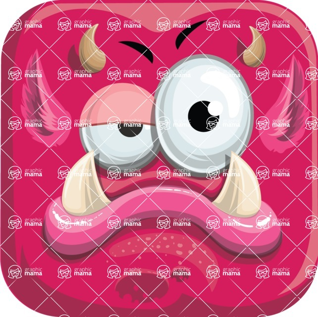 Monster Vector Cartoon Graphic Maker - Moody monster avatar