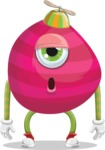 Monster Vector Cartoon Graphic Maker - Sleepy pink monster