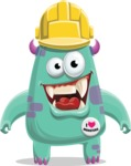 Monster Vector Cartoon Graphic Maker - Happy monster builder