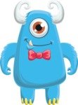 Monster Vector Cartoon Graphic Maker - Cute blue cyclop monster
