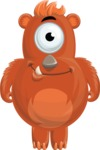 Cute bear monster cartoon