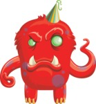Angry birthday monster