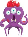Monster Vector Cartoon Graphic Maker - Shocked monster