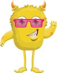 Monster Vector Cartoon Graphic Maker - Joyful monster with sunglasses