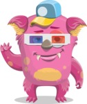 Monster with 3D glasses