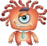 Octopus Monster Cartoon Vector Character AKA Mister Octo-monster - Normal