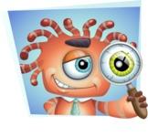 Octopus Monster Cartoon Vector Character AKA Mister Octo-monster - Shape 4