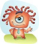 Octopus Monster Cartoon Vector Character AKA Mister Octo-monster - Shape 6