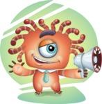 Octopus Monster Cartoon Vector Character AKA Mister Octo-monster - Shape 11