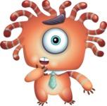 Octopus Monster Cartoon Vector Character AKA Mister Octo-monster - Stunned