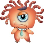 Octopus Monster Cartoon Vector Character AKA Mister Octo-monster - Sad 2