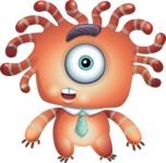 Octopus Monster Cartoon Vector Character AKA Mister Octo-monster - Shocked